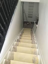 how to paint stairs without a ladder or scaffolding at home with