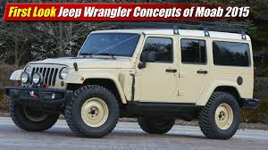 jeep moab truck first look jeep wrangler concepts of moab 2015 testdriven tv