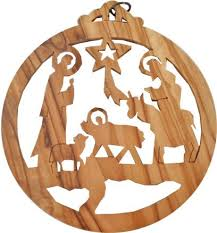 christmas tree ornament large size u2014 olive wood nativity sets