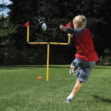 the winning field goal backyard goal post hammacher schlemmer