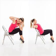 Desk Chair Workout Exercise While Sitting In Office Chair Really Encourage Seated