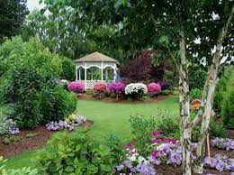utilize garden decor to create your beautiful backyard landscape