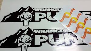 jeep wrangler sahara logo product the punisher edition version 2 hood decals custom set