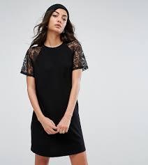 brautkleid spitze tã ll kleider asos in schwarz für damen