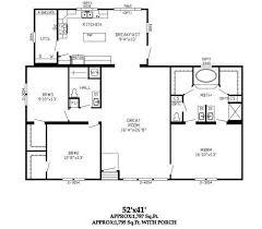 Triple Wide Floor Plans Three Section Home Plans Triple Wide Plans