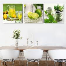online get cheap fruits lemon canvas painting aliexpress com no frame triptych lemon fruit canvas painting modern wall paintings for home decorative wall