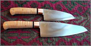 carbon steel santoku style kitchen knives