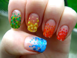 manicure what ails you a rainbow dotticure