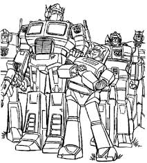 transformers optimus prime truck coloring pages printable kids