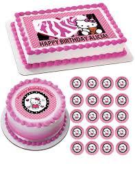edible prints hello and edible birthday cake or cupcake topper
