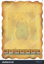 papyrus ornaments scarab stock illustration 80323348