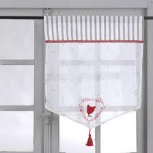brises bises de cuisine fantaisie rideaux cuisine vitrages 2 rideaux pois 60x120cm 55
