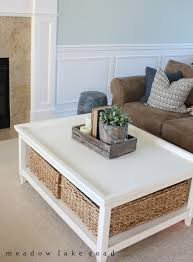 Living Room Table With Storage Stylish Storage Ideas Meadow Lake Road Pinteres