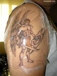 best angel warrior tattoo made by expert copy angel warrior