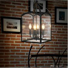 Chandelier Lighting Fixtures by Beatriz 4 Light Black Classic Iron Hanging Lantern Chandelier