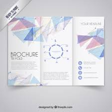 brochure templates free brochure template in geometric style free vector free trifold