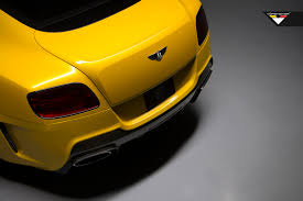 bentley yellow vorsteiner bentley continental gt br10rs