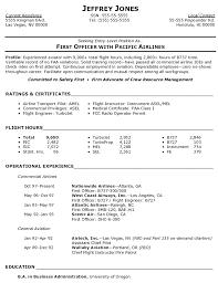 A Good Resume For A Job by Pilot Resume Berathen Com