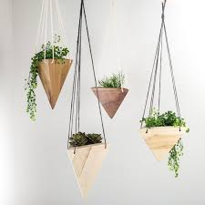 Modern Hanging Planters Geometric Hanging Planter Maple Planters Plants And Air Plants