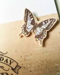 decorate inside of easel card with words and a butterfly stopper