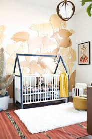 Blue Bird Home Decor Exciting Baby Nursery Ideas Black Color Crib Black White Patterned