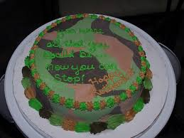 camouflage baby shower cake ideas for a boy army retirement