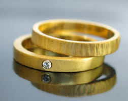 gold wedding bands for wedding bands etsy
