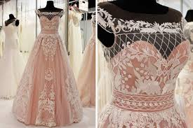 rosa brautkleid brautkleider 2018 trends spitze vintage boho