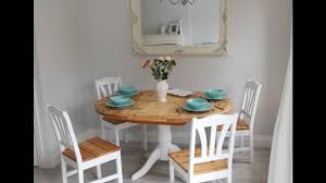 stunning farmhouse vintage extending dining table and 4 chairs