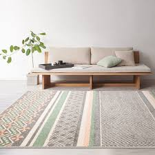 Modern Grey Rug Collalily Kilim Carpet Geometric Bohemia Indian Rug Plaid Striped