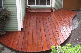 cedar decking with mahog flame custom stain seal a deckseal a deck