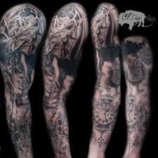 religious sleeve by el dugi lewis tattoonow