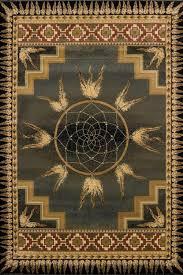 Area Rugs Southwestern Style United Weavers Genesis Dreamcatcher Green Native American Style