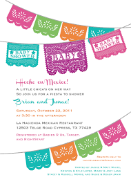 papel picado baby shower invitation for a boy or gender