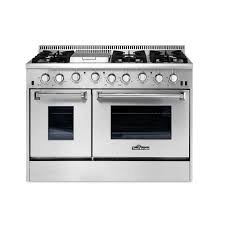 kitchen gas thor kitchen 48 in 6 7 cu ft professional gas range in stainless