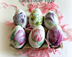 Decorating Easter Eggs Decoupage by Decorated Eggs Etsy
