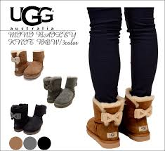womens ugg boots bow uggs bailey bow brown nyc uggoutlet
