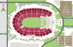 coliseum seating chart la coliseum