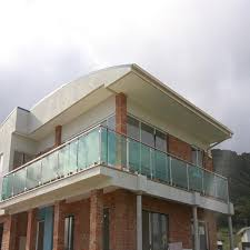 high end ss frosted glass villa balcony railing design