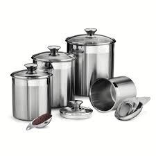 tramontina gourmet 8 piece stainless steel canister and scoop set