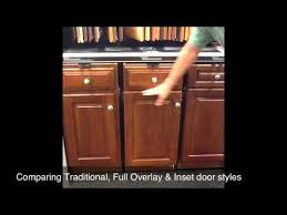 kitchen cabinet door styles comparing traditional full overlay