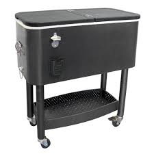 Outdoor Patio Cooler Cart by Unique Cooler Cart You Can Keep Outdoor Drinks Cold All Day