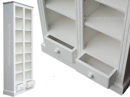 large white painted bookcase 200cm tall display shelving unit