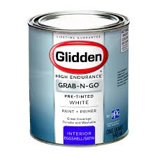 best non yellowing white eggshell paint glidden pre mixed ready to use interior paint and primer white eggshell finish quart walmart