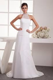 robe de mari e tours de mariée tour de cou ras du sol traîne moyenne dos nu