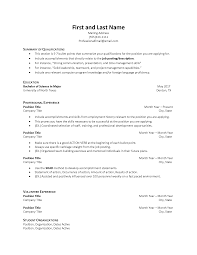 beginning resume resume samples division of student affairs
