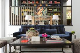 Sunken Living Room Ideas by Cool Down Your Design With Blue Velvet Furniture Hgtv U0027s