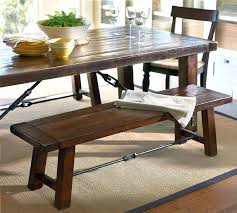 tables with benches oak dining table with bench and chairs 35