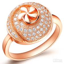 big flower rings images Online cheap top sale exquisite charming flower design rose gold jpg