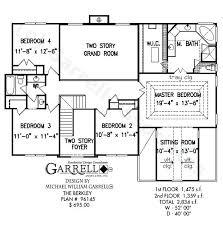 split plan house plans foyer plans
